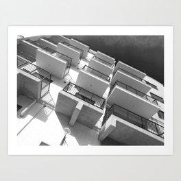 Balcony (Black and White) Art Print