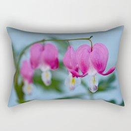 Pink Bleeding Hearts Rectangular Pillow