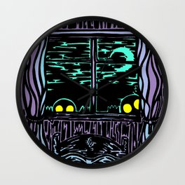 Night Night Wall Clock