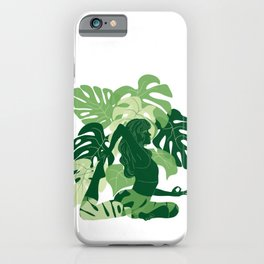 One-Legged King Pigeon Pose iPhone Case