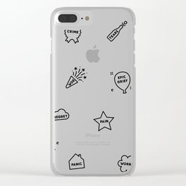 Let's Celebrate ! Clear iPhone Case