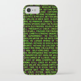 Fitter Happier More Productive iPhone Case
