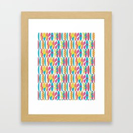 Rainbow Colored Waikiki Surfboards Framed Art Print