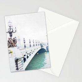 Pont Alexandre III Paris Bridge Watercolor Stationery Cards