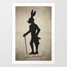 Sir Rabbit Art Print