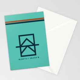 ALodge Lyons Pillow - Light Teal Stationery Cards