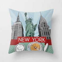 New York Breakfast Throw Pillow