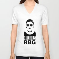 notorious V-neck T-shirts featuring Notorious RBG by KatieKatherine