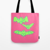 bats Tote Bags featuring Bats by idrewthestars