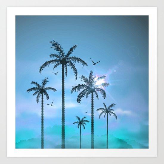 Palm Silouhette 6  Art Print