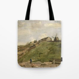 The hill of Montmartre with Stone Quarry Tote Bag