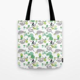 Happy Sloth Jungle Party Tote Bag