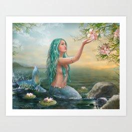 Marine Mermaid Art Print