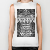 triangles Biker Tanks featuring TRIANGLES. by Council for design.