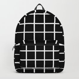 Back to School - Simple Grid Pattern - Black & White - Mix & Match  with Simplicity of Life Backpack