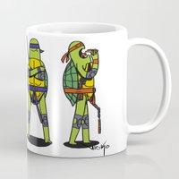 teenage mutant ninja turtles Mugs featuring Teenage mutant ninja turtles by Nioko