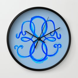 Path Of Life- Symbol (Gray / Blue) Wall Clock