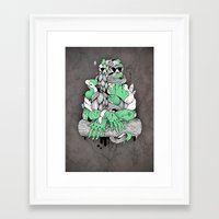 mona lisa Framed Art Prints featuring Mona Lisa by Gaetan billault