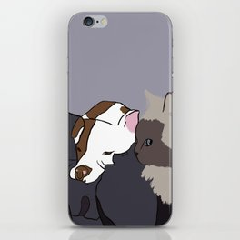 A Pit Bull and Her Kitty iPhone Skin
