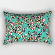 Aqua Koi Rectangular Pillow