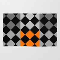 orange pattern Area & Throw Rugs featuring Pattern orange by LoRo  Art & Pictures