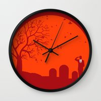 metal gear solid Wall Clocks featuring Solid by franz