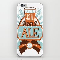 ale giorgini iPhone & iPod Skins featuring All Hail Real Ale by Kerry Hyndman