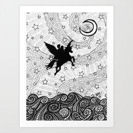Flight of the alicorn Art Print