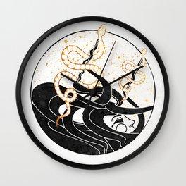 Medusa's Snakes Inktober :: Darlings, Don't Fear Me Wall Clock
