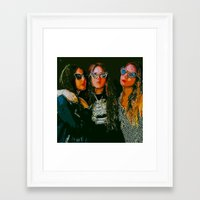haim Framed Art Prints featuring Haim Print by Bolin Cradley Art