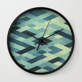 Abstract Pattern in Blue Wall Clock