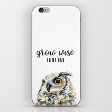 Grow Wise Little Owl Nursery Animals Art Great Horned Owl iPhone & iPod Skin