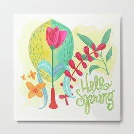 Hello Spring Metal Print