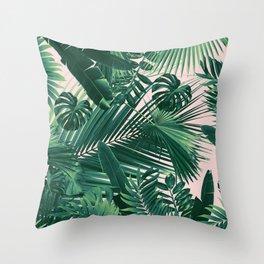 Jungle Leaves Siesta #1 #tropical #decor #art #society6 Throw Pillow
