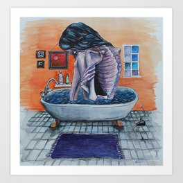 Bathtub Girl Art Print