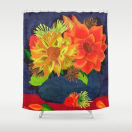 Sunflower Still Life Shower Curtain