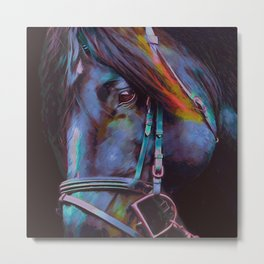 Black Stallion III Metal Print