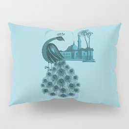Blue peacock oriental dream Pillow Sham