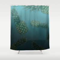 bikini Shower Curtains featuring Bikini Bottom  by Sammy Cee
