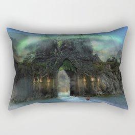 The Jade Gates Rectangular Pillow