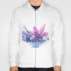 Summer flower pattern lilies and lavender Hoody