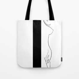 Woman Figure Line 2 Tote Bag