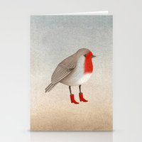 robin Stationery Cards featuring Robin by Hana Stupica