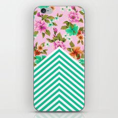 Tropical Floral Chevron iPhone & iPod Skin