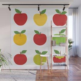 Nine apples Wall Mural