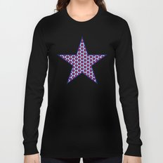 Red & Blue Pattern Long Sleeve T-shirt