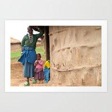 Village Life Art Print