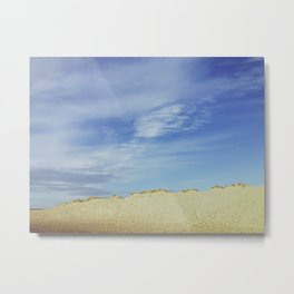 Blue sky dune. Metal Print