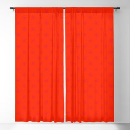 Crimson Red on Scarlet Red Snowflakes Blackout Curtain