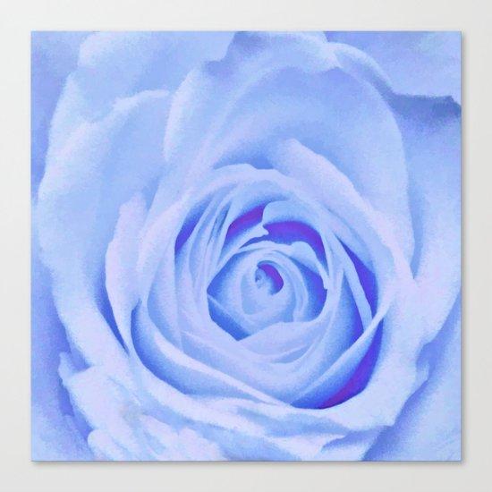 Blue Watercolor Rose Canvas Print